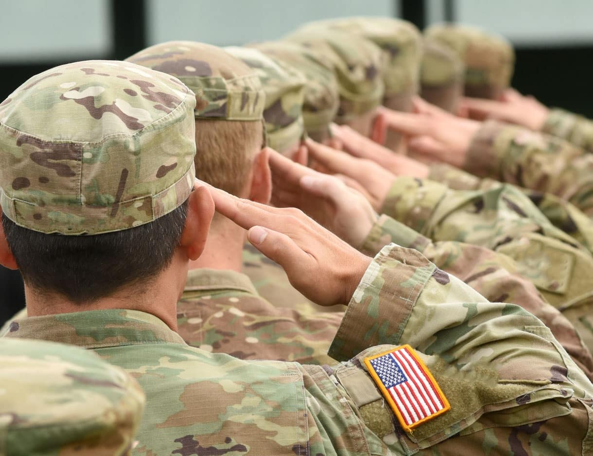 Military-Officers-Lined-Up-Saluting